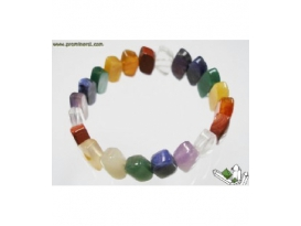 LOTE PULSERA 7 CHACRAS HOJA -10ud-