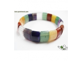 LOTE PULSERA 7 CHACRAS RECTANGULO EXTRA -10ud-