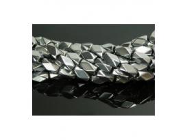 Hilo rombico hematite color plata