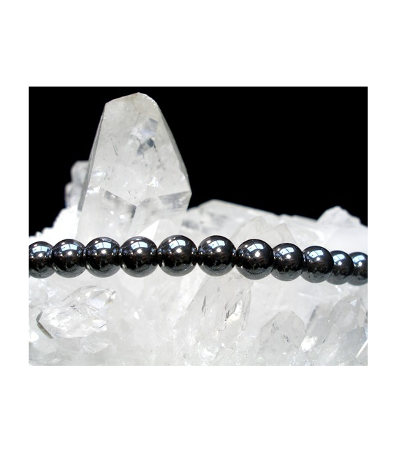 Lote collar bola hematite 4mm (10ud)