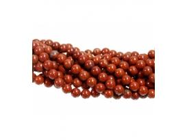 Hilo bola jaspe rojo 6mm