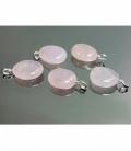 Colgante rodado cuarzo rosa (5ud)