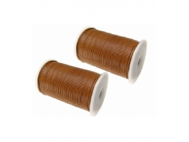 CUERO MARRÓN CLARO 2mm ROLLO -100mts-