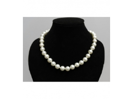 COLLAR PERLA BLANCA BOLA 10mm