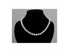 COLLAR PERLA BLANCA BOLA 8mm