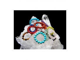 ANILLOS TIBETANOS 15 MINERALES BOLA 4-5MM -15ud-