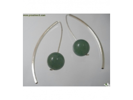 Pendiente vaina cuarzo verde (1ud)