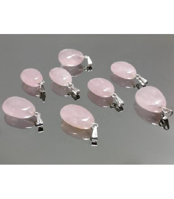 Colgante rodado cuarzo rosa tauro(10ud)