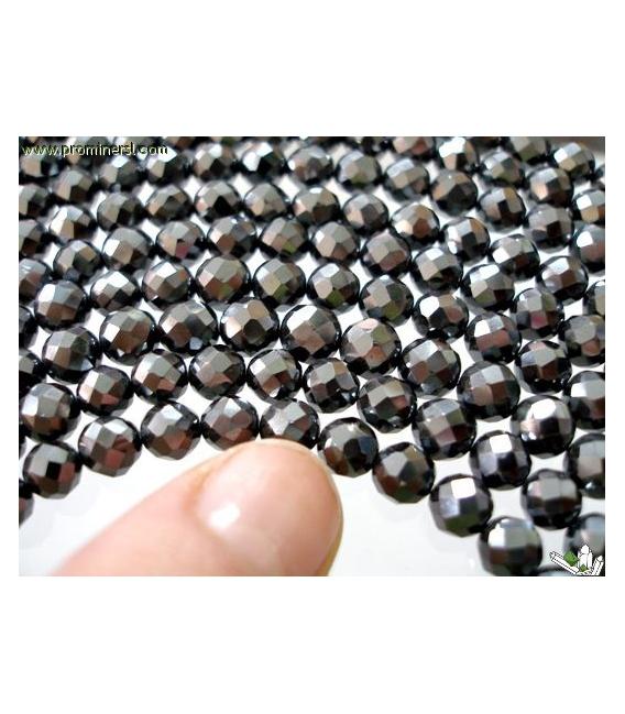 Hilo bola tallada hematite 6mm primera