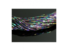 Hilo rectangulo hematite color arcoiris 5x2mm