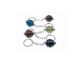 Llavero jaulita esfera variado(3ud)