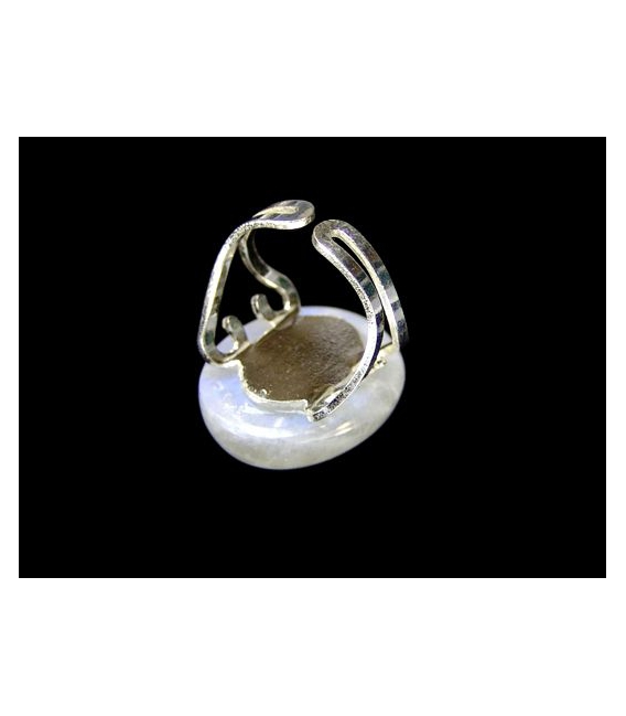 ANILLO PIEDRA LUNA ADAPTABLE PLATA