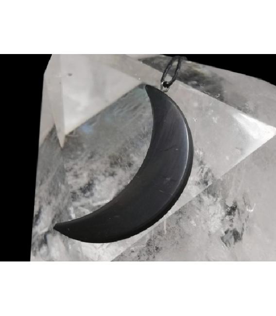 Colgante luna fina shungita (1ud)