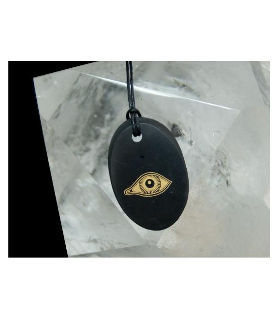 Colgante oval ojo shungita(1ud)