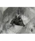 Colgante shungita cristalizada plata(3ud