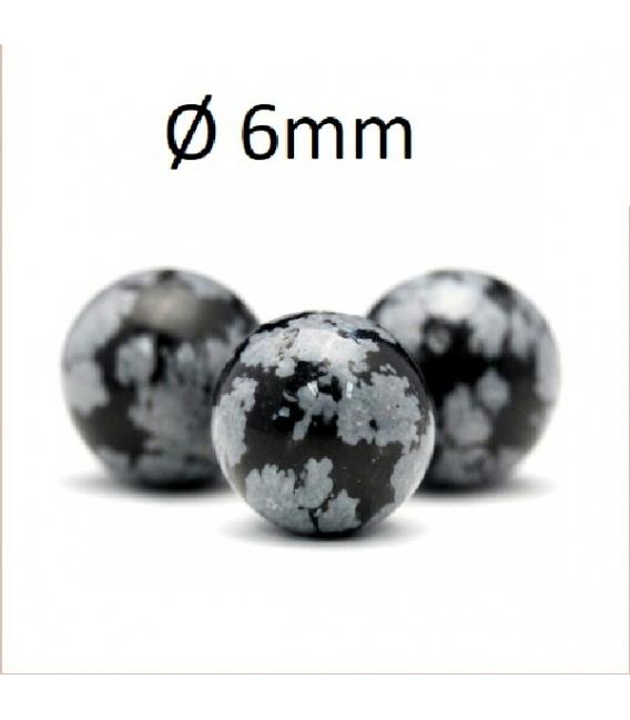 Hilo bola obsidiana nevada 6mm