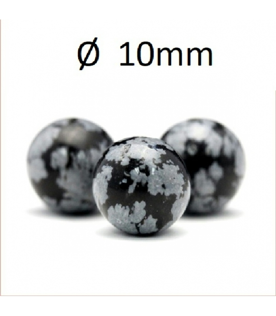 Hilo bola obsidiana nevada 10mm