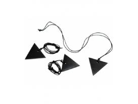 Colgante triángulo femenino shungita