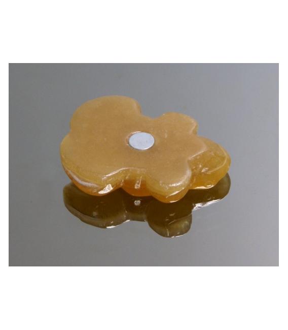 Imán rana calcita amarilla(1ud)