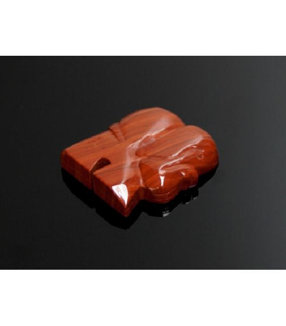 Iman elefante jaspe rojo