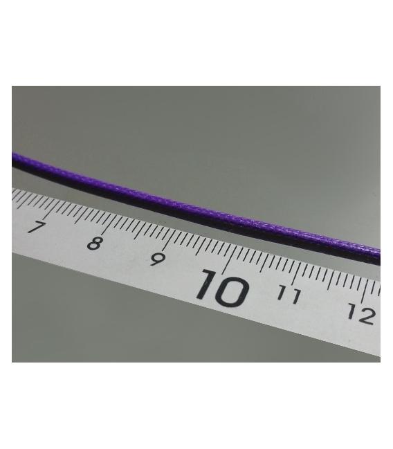 Gargantilla cordón algodón lila (10ud)