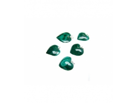 Colgante corazon malaquita 26x26mm plata (3ud)