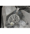 Colgante arbol vida piedra luna plateado (3ud)