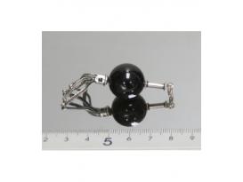 Colgante esfera cola sirena obsidiana negra
