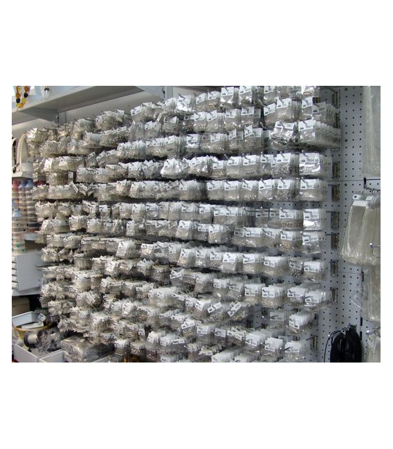 FORNITURA PLATA  ALFILER 7CM (10UD)