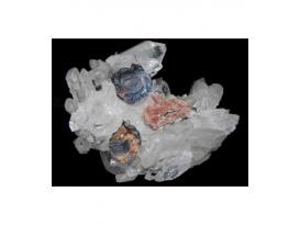COLGANTE FLOR CALCEDONIA PLATA (2ud)