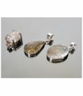 Colgante cabujón cuarzo rutilo plata(1ud
