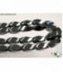 Hilo twist hematite 6x12mm