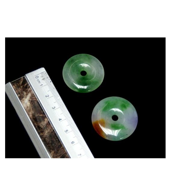 COLGANTE DONUT JADE VERDE 25mm (10ud)