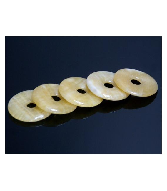 COLGANTE DONUT CALCITA AMARILLA 40mm(5ud)