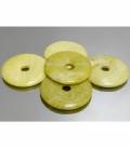 COLGANTE DONUT SERPENTINA LIMON 40mm(5ud)