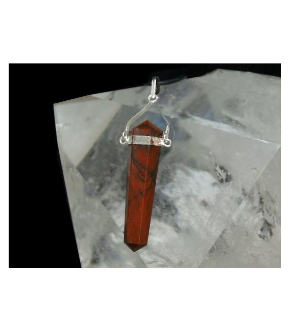 Colgante pendulo jaspe rojo (5ud)