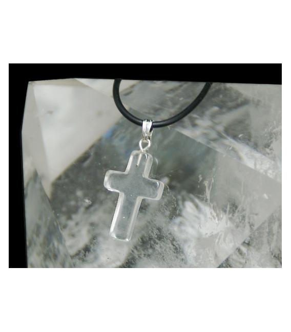 Colgante cruz cuarzo (5ud)