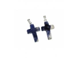 Colgante cruz sodalita (5ud)