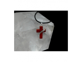 Colgante cruz jaspe rojo (5ud)