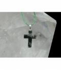 Colgante cruz agata musgosa (5ud)