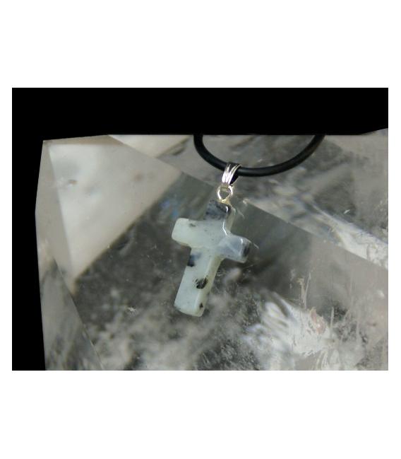 Colgante cruz jade (5ud)
