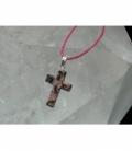 Colgante cruz rodonita (5ud)