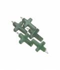 Colgante cruz cuarzo verde (5ud)