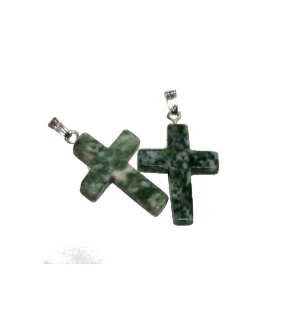 Colgante cruz jade dragon (5ud)