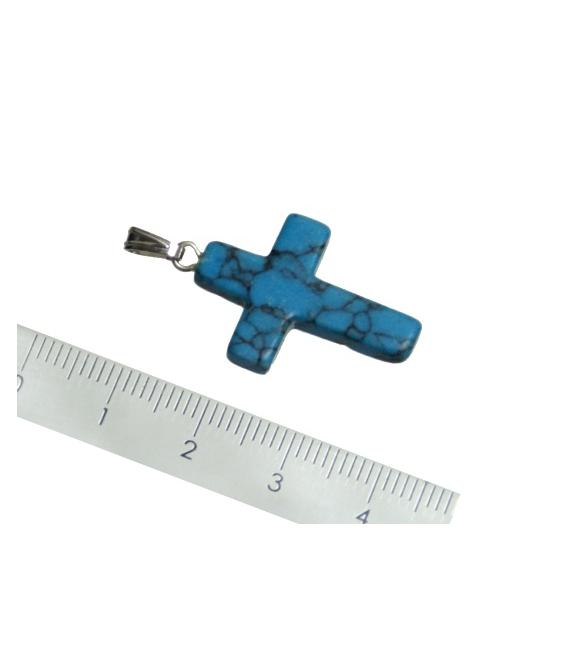 Colgante cruz turquenita (5ud)