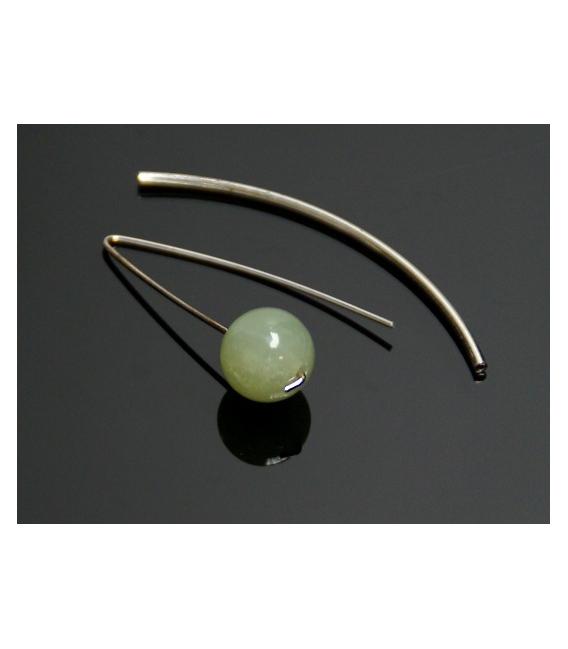 Pendiente vaina jade nuevo (1ud)