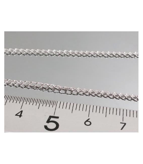 CADENA PLATA ESLAVÓN TRENZA MINI 45cm (3