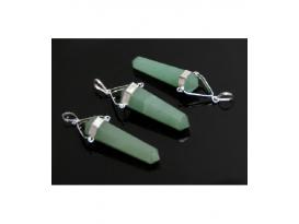 Colgante pendulo cuarzo verde (5ud)