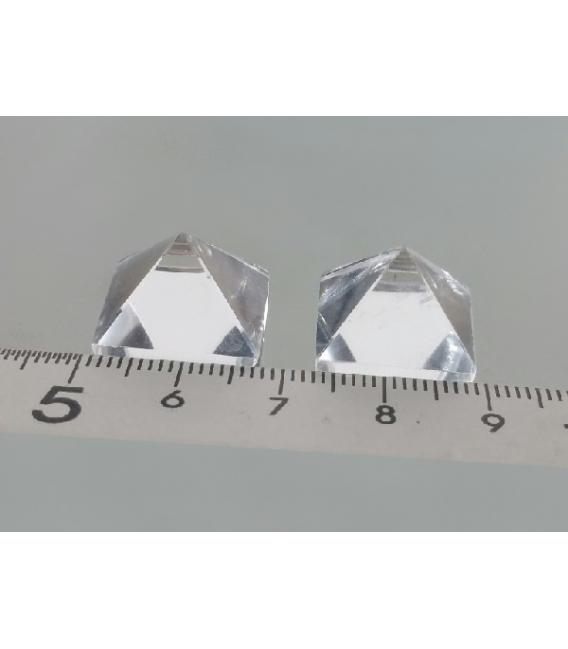 PIRAMIDE CUARZO EXTRA 17 X 17 MM (5ud)