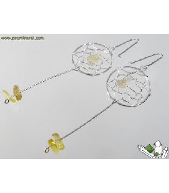 Pendiente atrapasueños citrino(1par)